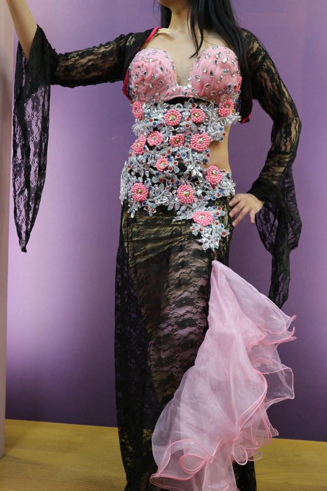 エジプト製 ベリーダンス衣装 ドレスタイプ チョリ付