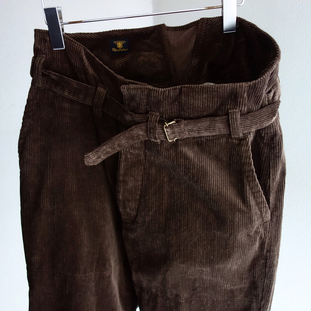 tanker work corduroy pants / d.brown