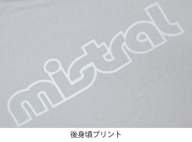 ミストラル ユニセックス【コットン長袖Tシャツ -ビッグロゴ-】M.GRAY