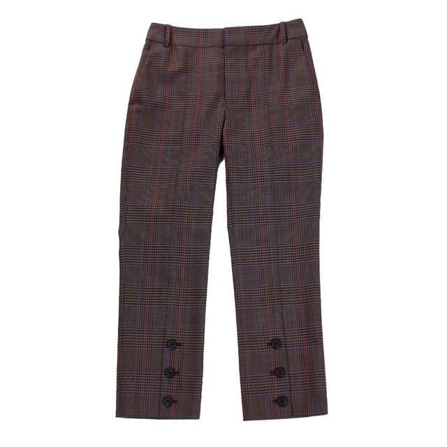 MONSE Check Trousers Pants Brown SIZE;0