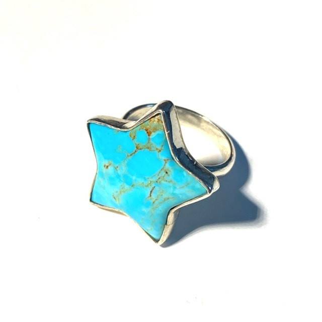 "ターコイズ ""Big Star"" ring"