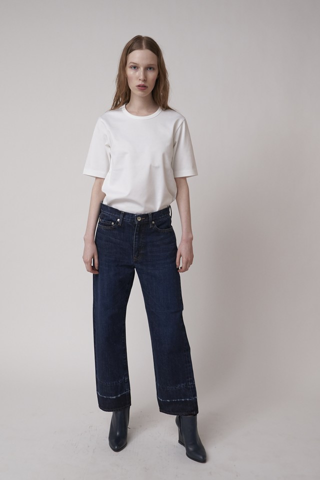 HEM PROCESSED STRAIGHT DENIM