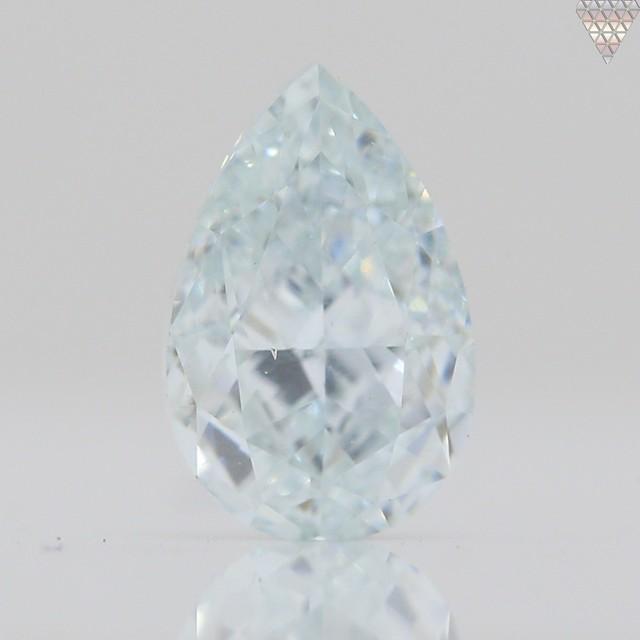 0.51 ct LIGHT  GREEN VS1 PEAR GIA 天然  ダイヤモンド ルース