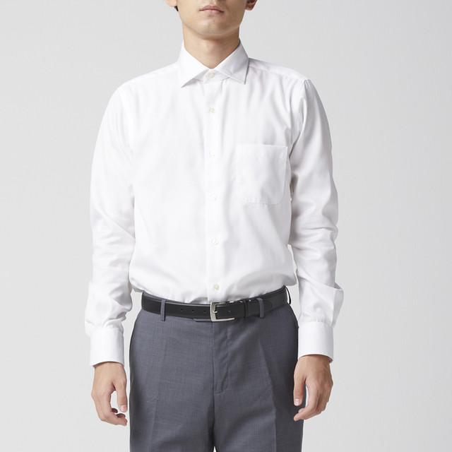 MEN シャツ ビジネスシャツ Yシャツ 40 スリムフィット ホワイト