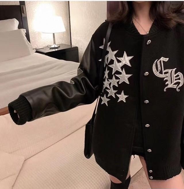 cromeベースボールジャンパー ベースボールジャンパー ジャンパー 韓国ファッション