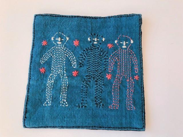 【レンテン族】自然染・手縫いコースター とり