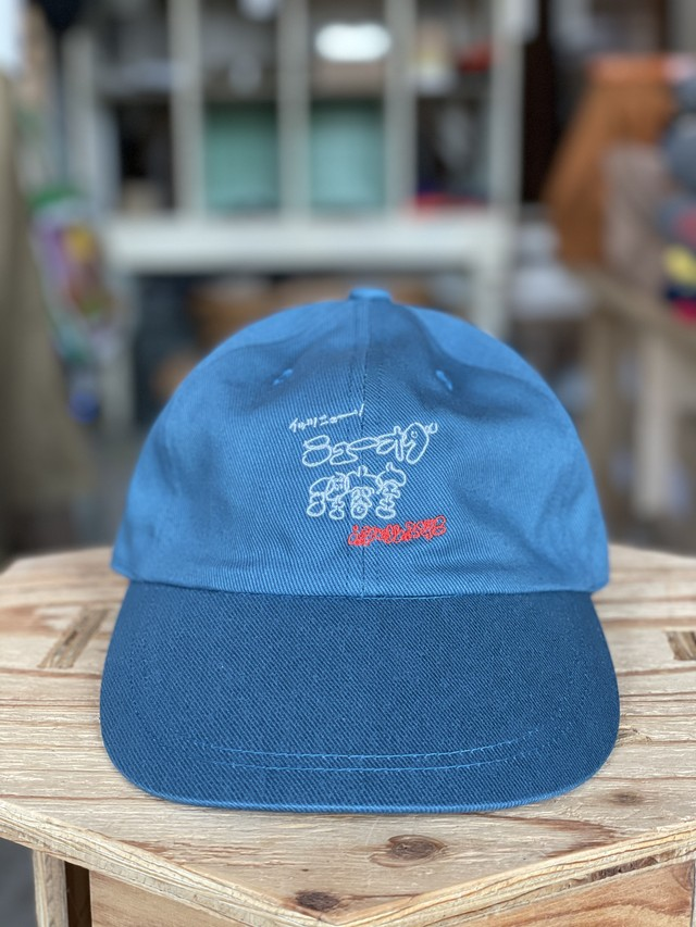 ニューオダ理容室 LOGO CAP OLD BLUE