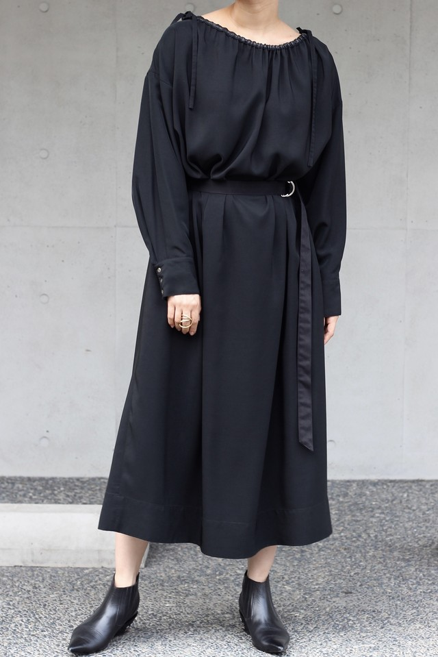 【KOTONA】drawstring dress-black
