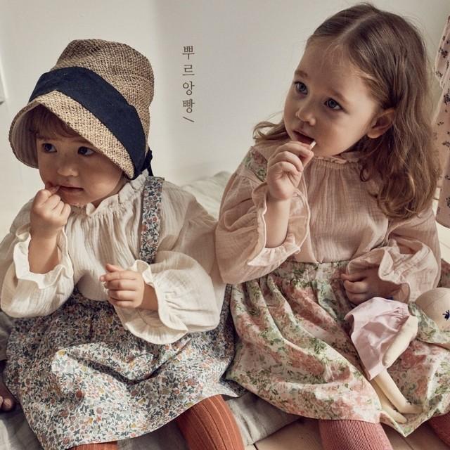 【新作予約】【pourenfant】Deion Skirt 小花柄 プリントスカート 春 ベビーカラー 韓国子供服