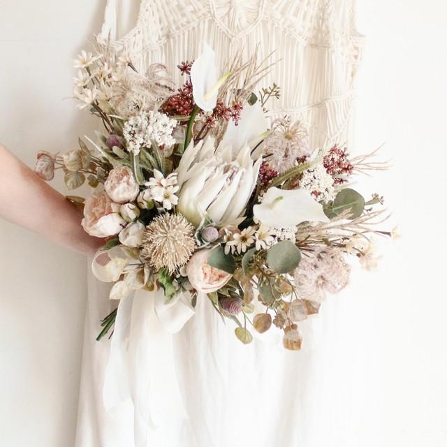 【再販】Botanical Flower Bouquet & Boutonniere