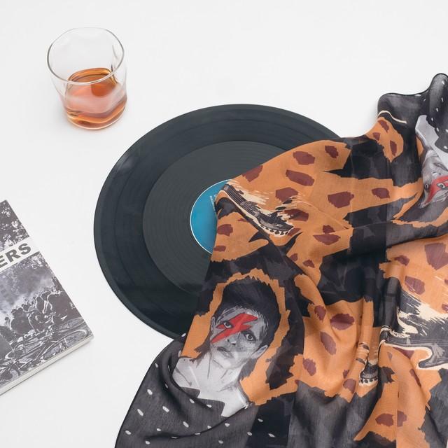 Silk Neckerchief 'Wobble'  リング付きシルクミニスカーフ