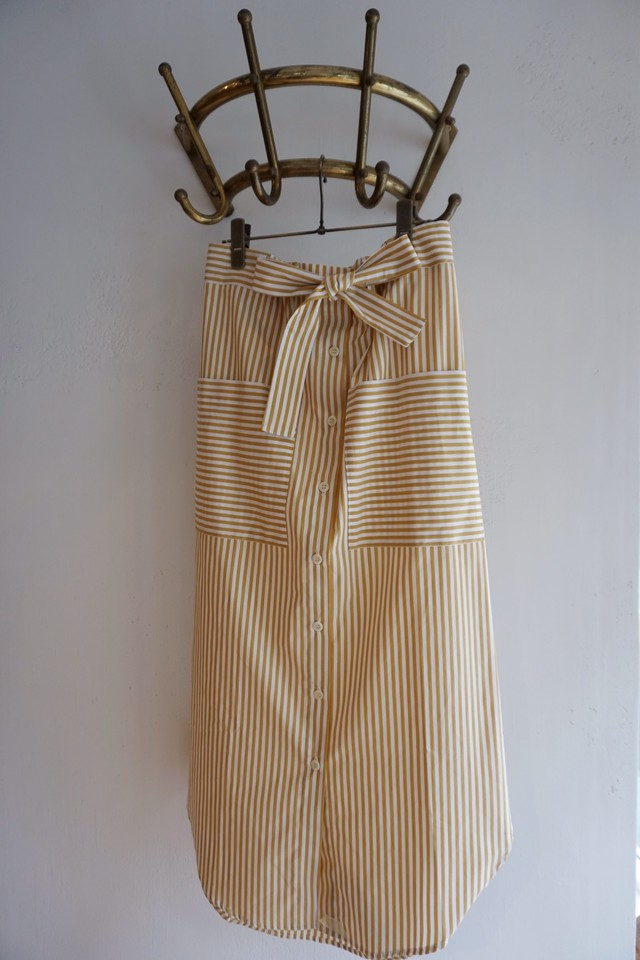 <KLOKE> STRIPE LONG SKIRT