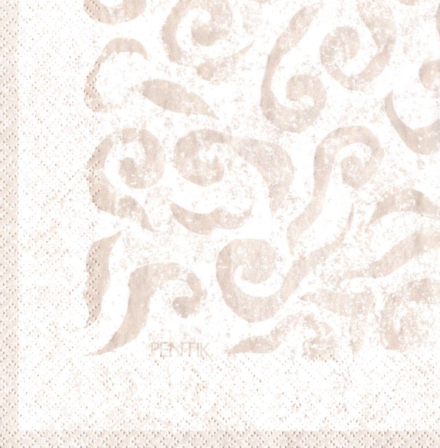 【PENTIK】バラ売り1枚 ランチサイズ ペーパーナプキン VANILJA パールベージュ