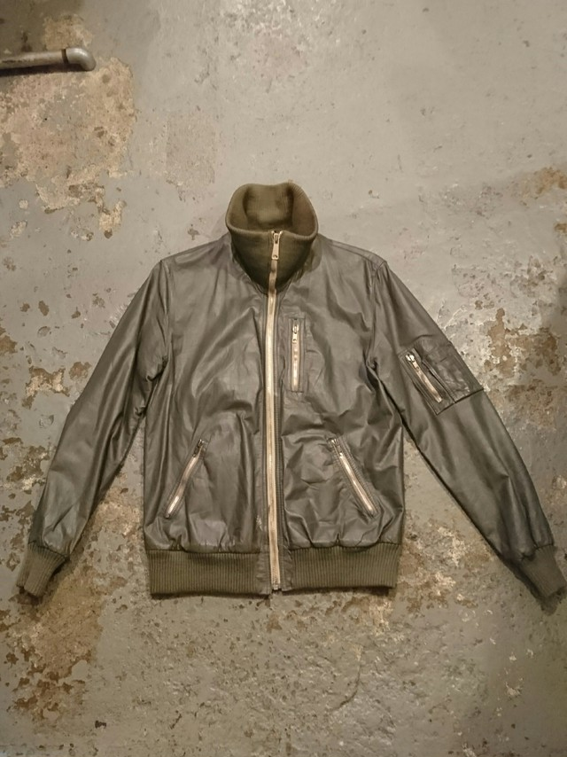 "80s ""GERMANY MILITARY"" LEATHER FLIGHT JACKET"
