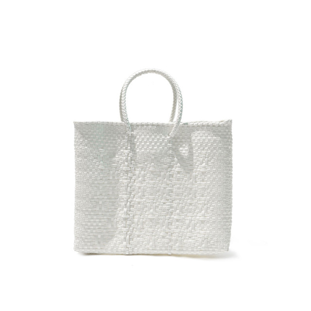 MERCADO BAG ROMBO‐White(XS)