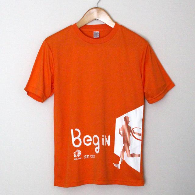 RUN伴2021/2022 公式Tシャツ(オレンジ/Begin)