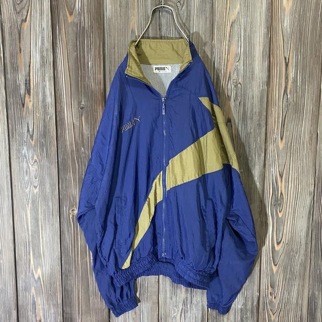 [PUMA]asymmetry design nylon jacket