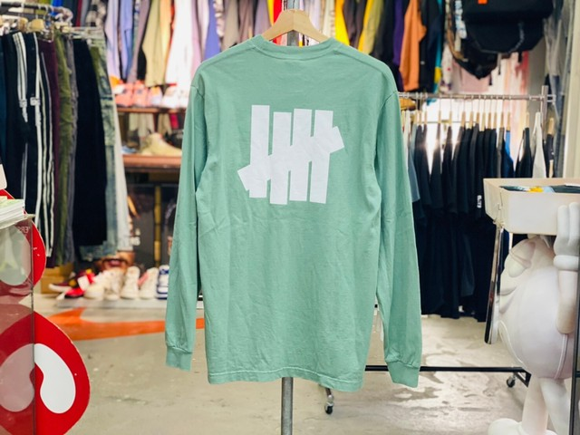 UNDEFEATED ICON LS TEE GREEN SMALL LIGHT GREEN 5KG7872