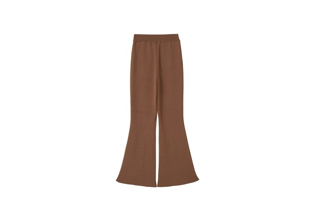SMOOTH FLARE PANTS - [BROWN]