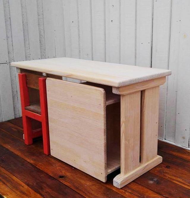 キッズデスク 椅子・収納本棚セット
