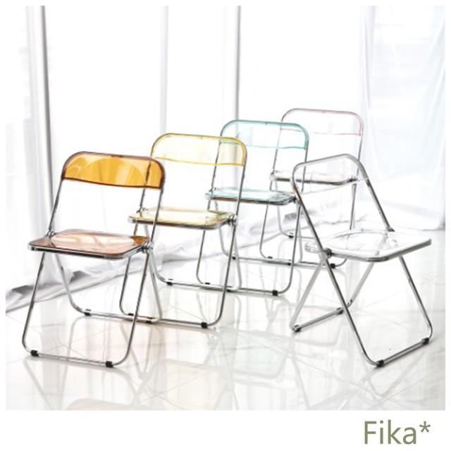 【韓国インテリア】大人気! クリア チェア 椅子 カフェ 全7色