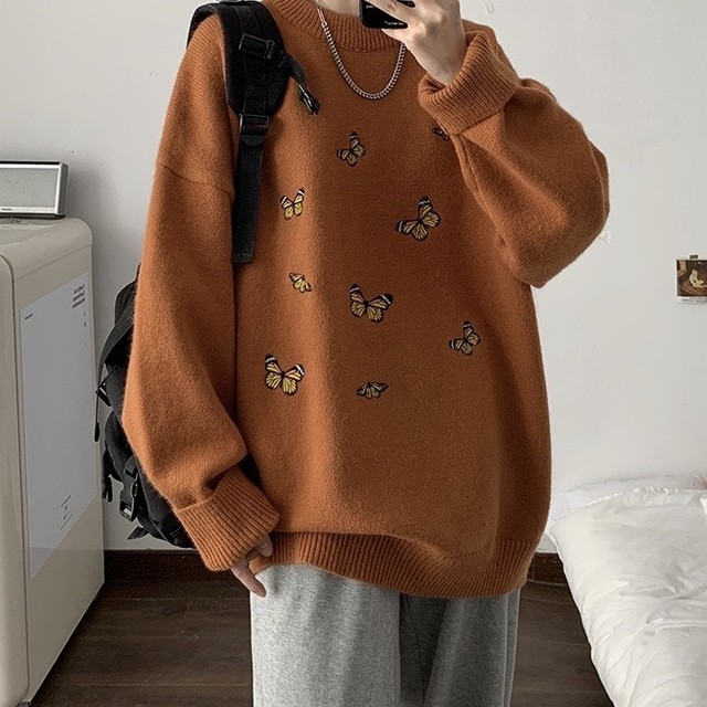 butterfly color knit sweater PD2279