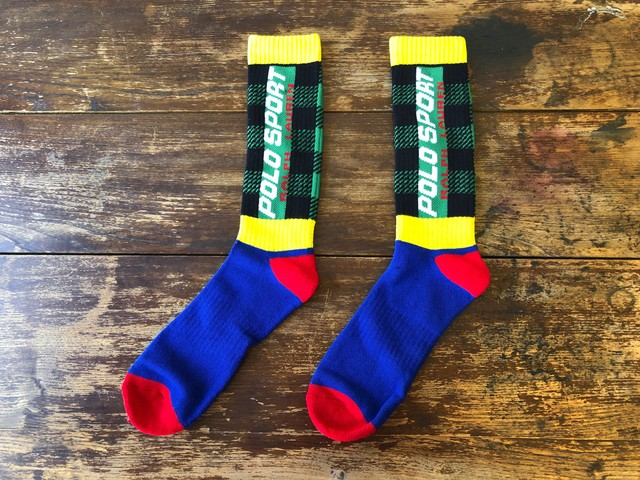 POLO SPORT BUFFALO PLAID SOCKS (MULTI)