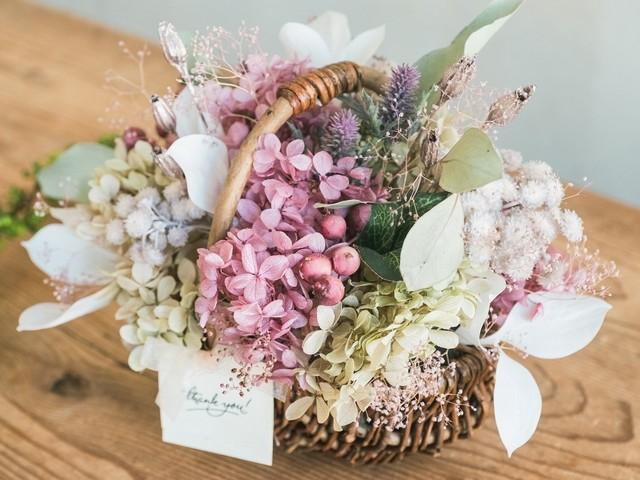 Flower Basket_Memories Pink◆Dry