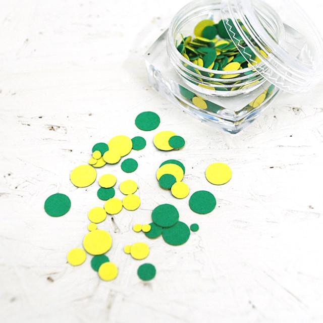 《ツインカラー シトラス》ペーパーホログラム レジン封入 ネイルフレーク  ガラスドーム