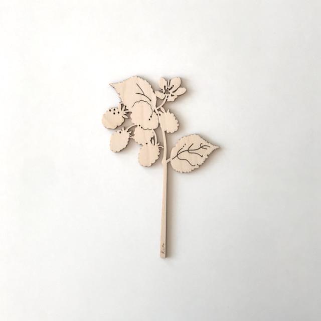 kito 木製草花スティック「ブラックベリー」