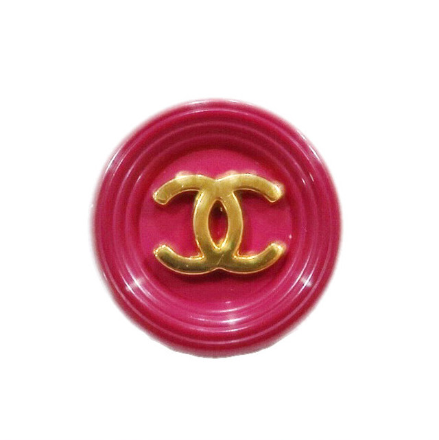 【VINTAGE CHANEL BUTTON】ピンク ゴールドココマーク ボタン17㎜ C-19103