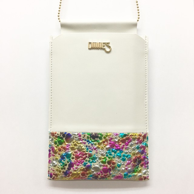 Multi PhonePochette【WaterDrop】Multi×White