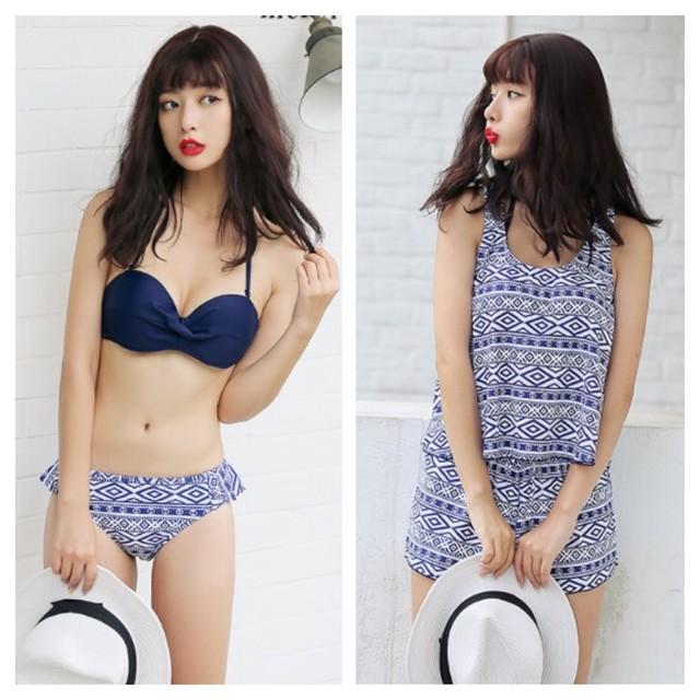 【即納】水着 ビキニ 〜 Bikini ~ 4点セット  Bネイビー 581