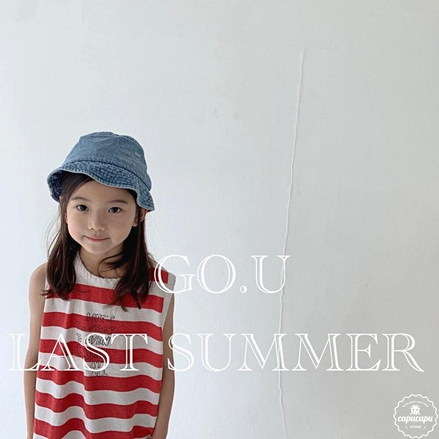 «sold out» go.u border sleeveless 2colors ボーダーノースリーブ