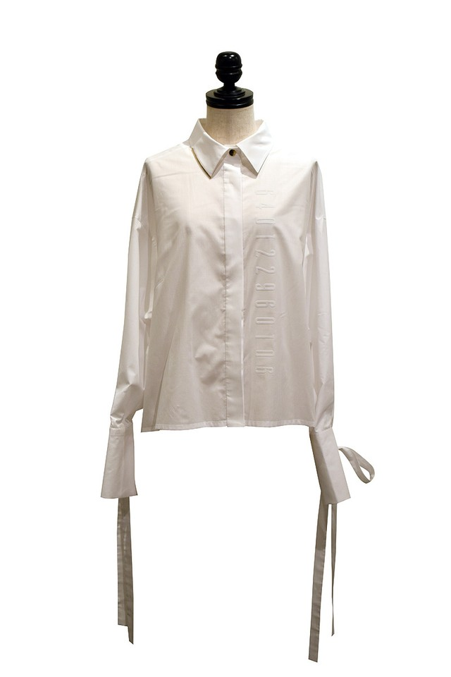 J WOO / blouse 01 / WHITE