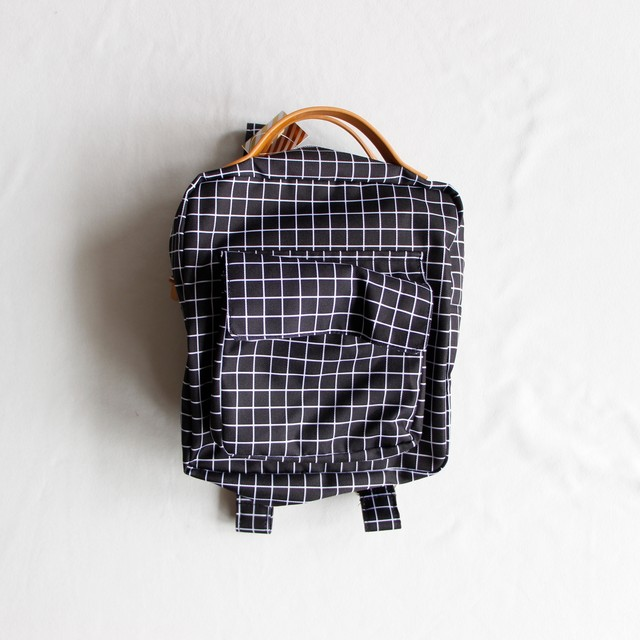 《chocolatesoup 2018AW》GEOMETRY RUCK SACK / grid