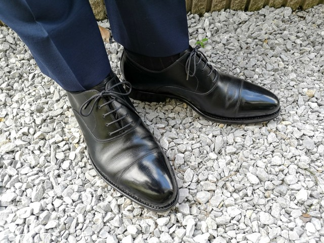 ブラック靴紐 丸紐or平紐 蝋引き