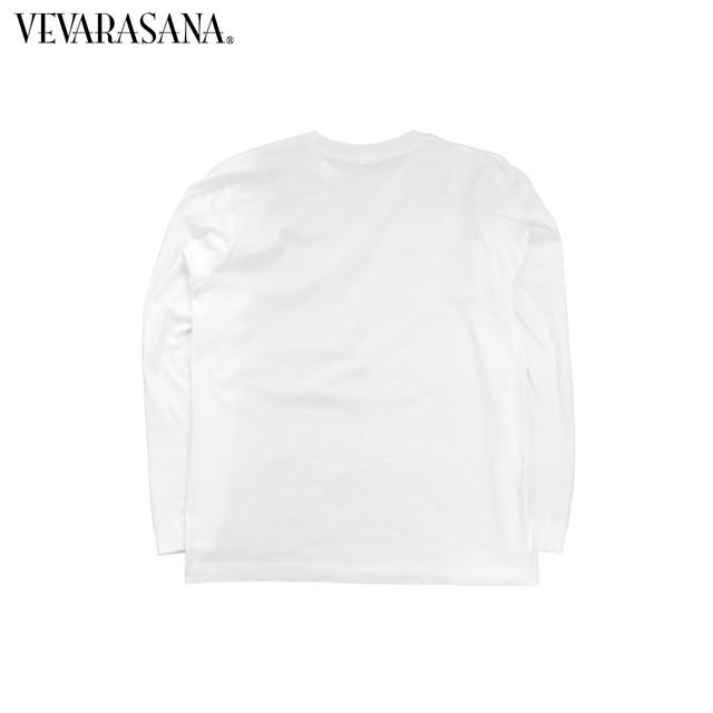 VEVARASANA®︎ ロゴロングTシャツ ホワイト