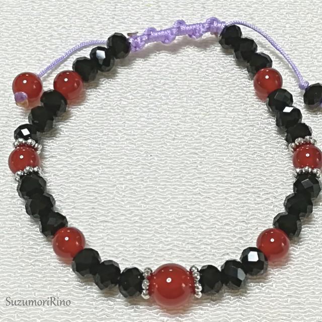 【ブレスレット】天然石デザインブレスレット- アクアマリン・水晶・ローズクォーツ -(bracelet-001)