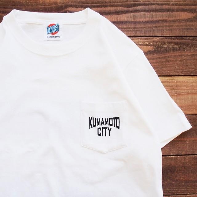 "【DARGO】""KUMAMOTO CITY"" Pocket T-shirt (WHITE)"