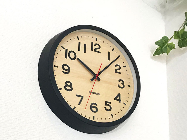 KATOMOKU plywood wall clock 4 km-44N