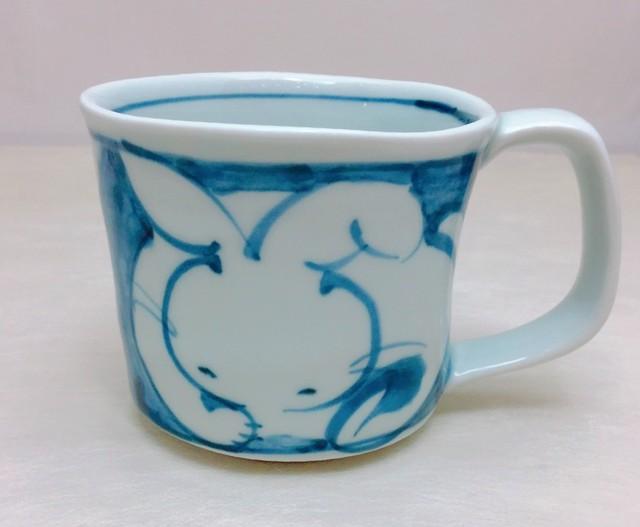 古代赤絵兎マグカップ
