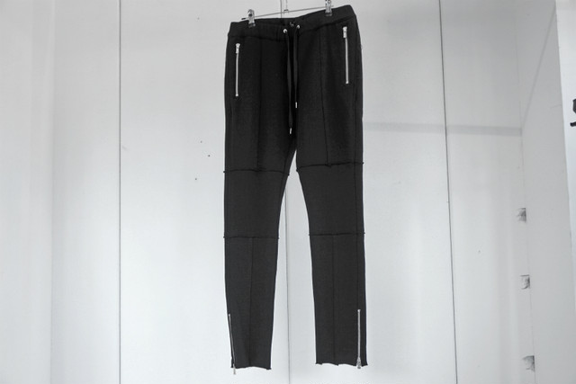 ASKYY / ZIP SWEAT PANTS / BLK