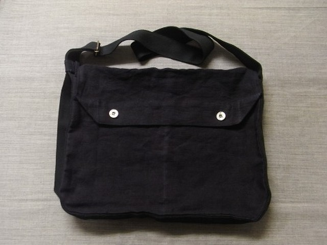 frenchwork indigoheavylinen shoulderbag