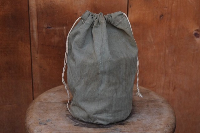 USED 40s Vintage U.S.Military HBT Pouch 0990