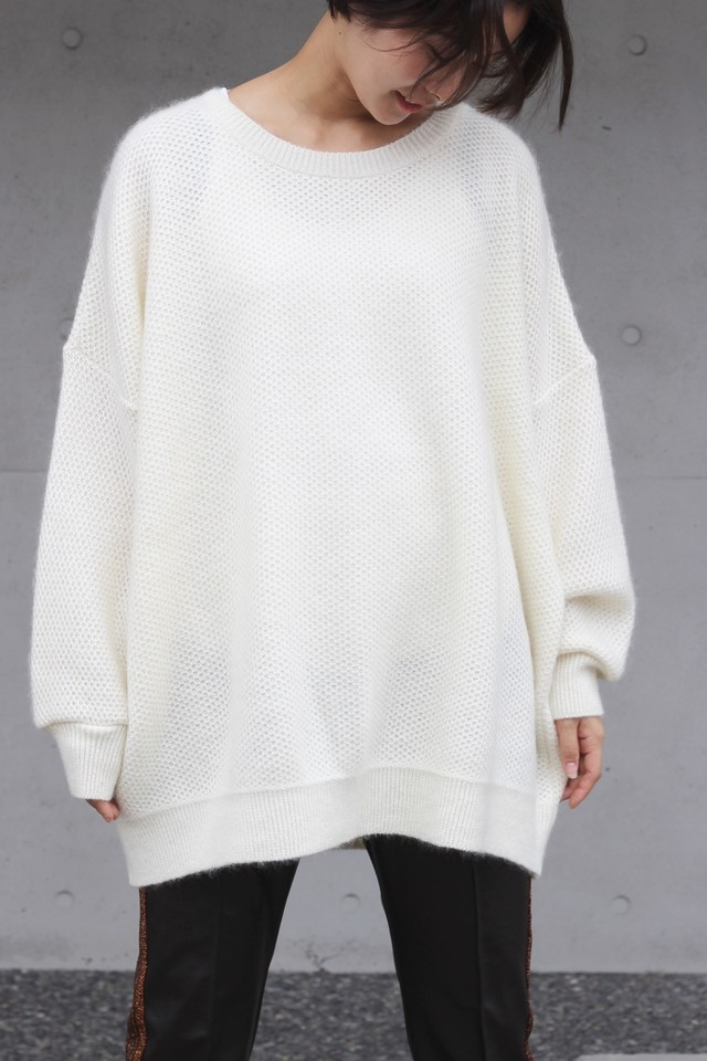 【Needles】mohair big sweater-white