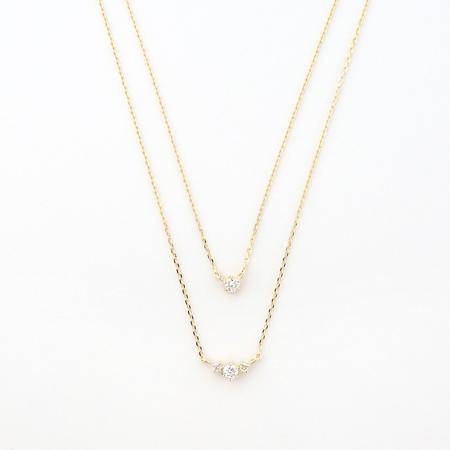luster double strand necklace