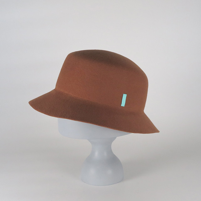 AW20-BD-4 Wool Felt Bucket Hat - BLC