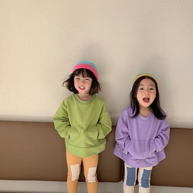 【先行予約】スウェット パーカー ベビーカラー 4色展開 韓国子供服 春 SS
