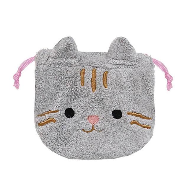 【猫柄】ふんわり巾着【プチギフトに! 19p00882】